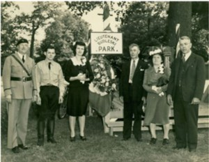 Dedication of Budleski Park, May 28, 1944 - Connecticut Historical Society. Gift of Mary Jane Dapkus