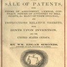 Title page of Simonds' book Practical Suggestions on the Sale of Patents, 1871