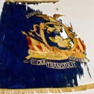 "This 29th (Colored) Regiment CVI state ""regimental"" flag was presented to the unit March 19, 1864."