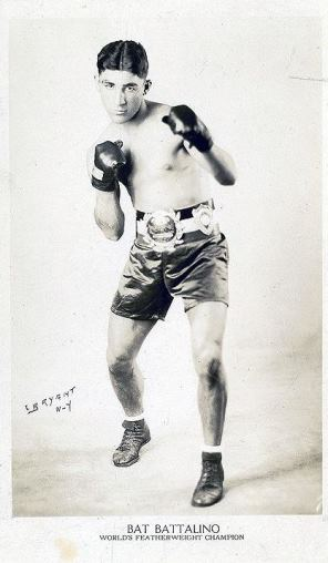 "Christopher ""Bat"" Battalino, born 1908. He won the world professional championship as a featherweight from Frenchman Andre Routis in September 1929 at the Velodrome in East Hartford - Connecticut Historical Society"