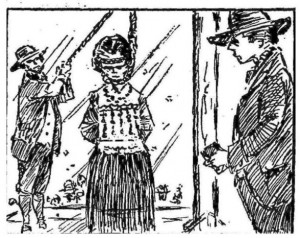 A drawing of Hannah Ocuish's hanging, published in the Courant in 1964 - Hartford Courant file image