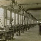 Interior of a typewriter factory, ca. 1910, Hartford. Most likely the Underwood Typewriter Manufacturing Company, 581 Capitol Avenue, Hartford - Connecticut Historical Society and Connecticut History Online