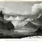 A View of Snug Corner Cove, in Prince William's Sound. Engraving after a drawing by John Webber, published 1783. Captain Cook and his crew explored Prince William Sound off the coast of Alaska in 1778 - Connecticut Historical Society, Daniel Wadsworth 1848.16.3.28