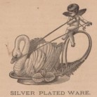 Cupid and Swan Dish manufactured by the Meriden Britannia Company. Wood engraving by Asher & Adams, ca. 1876. An example of the ornate wares produced by Meriden Britannia during the 1870s - Connecticut Historical Society