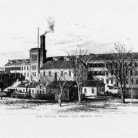 Line drawing of Stanley Works, New Britain, ca. 1879 -  Hartford Public Library, Hartford History Center, Hartford Time Collection and Connecticut History Online