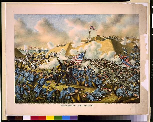 Kurz & Allison, Capture of Fort Fisher, 1890, chromolithograph - Library of Congress, Prints and Photographs Division