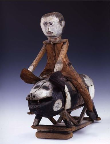 Man on Hog by Clark Coe - Smithsonian American Art Museum, Gift of Herbert Waide Hemphill