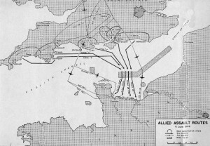 Map of the Allied Assault Routes, June 6, 1944 - US Army Center of Military History