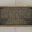 Ulysses Grant Memorial Tablet, dedicated October 4, 1916.