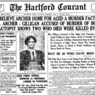 Detail of the Hartford Courant coverage Of Amy Archer-Gilligan's Arrest, May 9, 1916 -  Hartford Courant file image