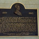 Bronze Tablet dedicated to President Abraham Lincoln and his Gettysburg Address on April 9, 1927