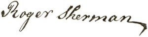 RogerShermanSignature