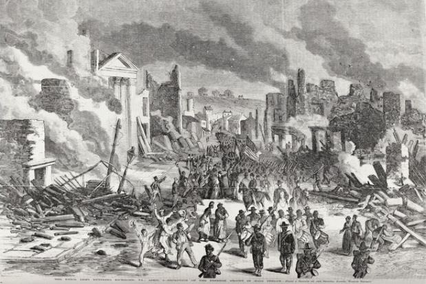 """The Union Army Entering Richmond, VA., April 3,"" from Frank Leslie's Illustrated Newspaper, April 25, 1865"