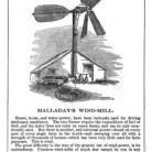 Halladay's Wind-Mill from Illustrated Annual Register of Rural Affairs: A Practical and Copiously Illustrated Register of Rural Economy and Rural Taste, 1858
