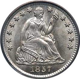 1857 Liberty half dime