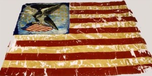 "This 29th (Colored) Regiment CVI 33-star US ""National"" flag was presented to the unit March 8, 1864, in Fair Haven, CT - Courtesy of the Connecticut Office of Legislative Management, from the book Qui Transtulit Sustinet by Geraldine Caughman"