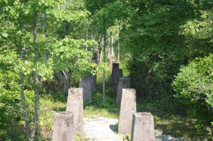Concrete pillars mark the path of the old conveyor belt - Peter Vermilyea
