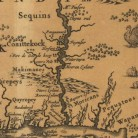 Detail from the map Novi Belgii Novaeque Angliae nec non partis Virginiae tabula multis in locis emendata per Nicolaum Vissche, ca. 1685, illustrating the location of the House of (Good) Hope - Mystic Seaport and Connecticut History Online