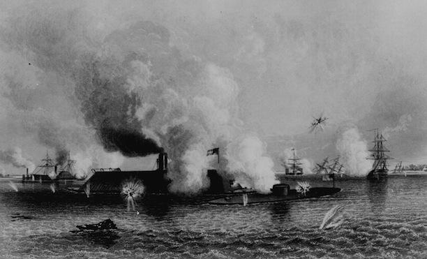 U.S.S. Monitor battles C.S.S. Virginia