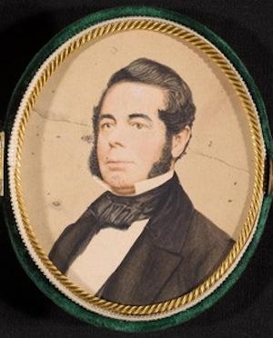 Portrait miniature of John Pierce Brace, watercolor, ca. 1830 - The Litchfield Historical Society