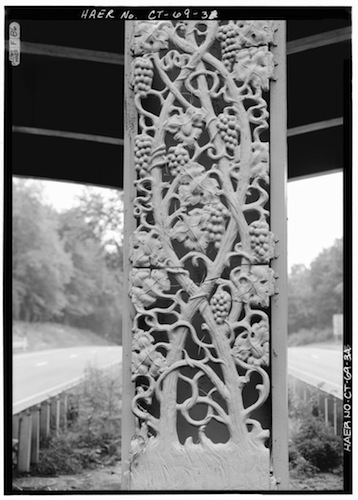 Detail of iron work produced by Kenneth Lynch for the center pier of the Lake Avenue Bridge, spanning the Merritt Parkway, Greenwich - Library of Congress, Prints and Photographs Division
