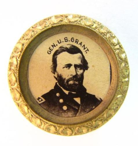 Ulysses S. Grant presidential campaign badge made by the Scovill Manufacturing Company of Waterbury, ca. 1868 - Smithsonian Institution
