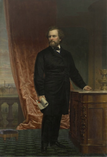 Charles Loring Elliott, Colonel Samuel Colt, oil painting - The Wadsworth Atheneum and Connecticut History Online
