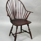 Windsor arm chair made by Amos Denison Allen, Windham, CT, about 1800 - Connecticut Historical Society
