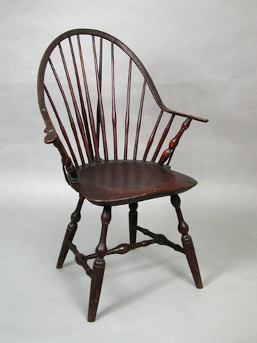 Wonderful Windsor Arm Chair Made By Amos Denison Allen, Windham, CT, About 1800