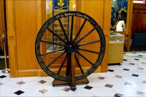 The gun wheel of the First Light Battery in the Connecticut State Capitol - Courtesy of Stacey Renee