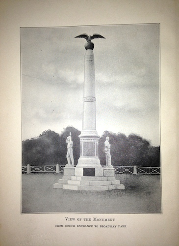 Drawing from the Program of exercises at the dedication of a soldiers monument erected by the First Connecticut Light Battery, the Sixth, Seventh and Tenth Connecticut Volunteers monument association at the Broadway Park, New Haven, June 16, 1905 - Library of Congress, Prints and Photographs Division