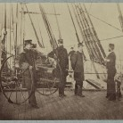 Admiral Farragut and Captain Drayton on deck of USS frigate Hartford, ca. 1861-65 - Library of Congress, Prints and Photographs Division