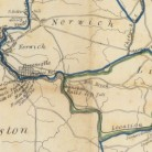 Detail for a Map exhibiting the route of the Norwich & Worcester rail-road surveyed by James P. Kirkwood, James Laurie (Civil Engineers)..., ca. 1835 - Connecticut Historical Society and Connecticut History Online