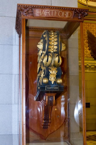 Front view of the USS Hartford figurehead, Connecticut State Capitol, Hartford - Courtesy of Stacey Renee