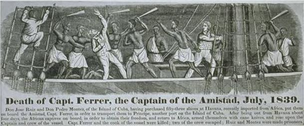 an analysis of the slave revolution on amistad in 1839 Amistad is a recreation of the true story about an 1839 slave revolt on a small  spanish schooner, la amistad, ironically the spanish word for friendship.