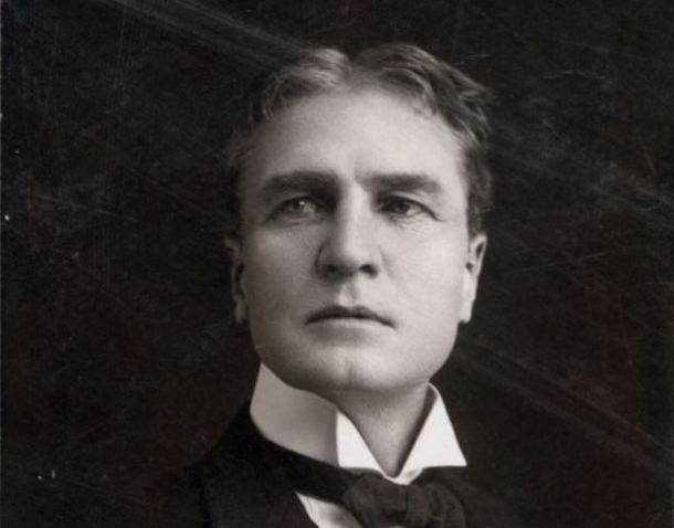 Detail from a portrait of William Gillette - New York Public Library Digital Gallery, Billy Rose Theatre Division