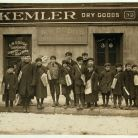 Some of the newsboys returning Sunday papers. Many of them had been out since 5 and 6 am. Hartford, Conn. Photograph by Lewis Hine, March 1909 - Library of Congress, Prints and Photographs Division