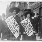 Two women strikers from Ladies Tailors union on picket line during the garment workers strike, 1910, New York City - Library of Congress, Prints and Photographs Division