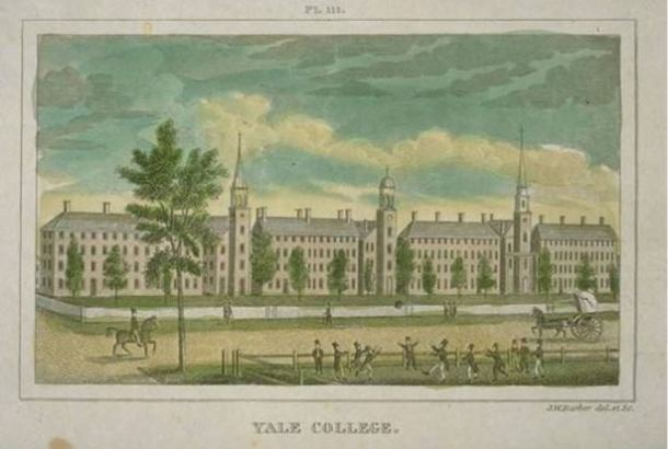John Warner Barber, Yale College, 1825, wood engraving - Connecticut Historical Society and Connecticut History Online