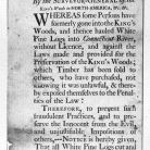 Broadside dated January, 1770 addressing the removal of white pine logs from the King's Woods in the province of New Hampshire - Library of Congress, American Memory