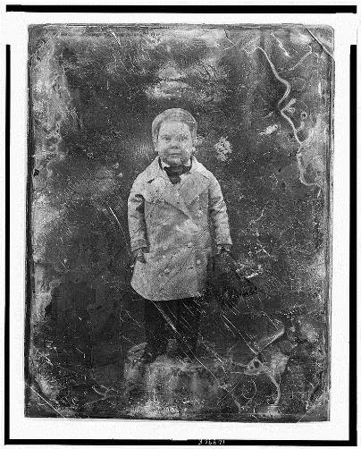 Mathew Brady, portrait of Tom Thumb, ca. 1844-1860, daguerreotype - Library of Congress, Prints and Photographs Division