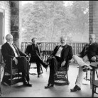 In Conference at Warwick, Senators Platt, Spooner, Allison, and Aldrich from An Old-Fashioned Senator: Orville H. Platt, of Connecticut... by Louis Arthur Coolidge