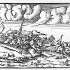 Aftermath of an earthquake, woodcut, ca. 1500s