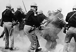 Alabama Police confront the Selma Marchers - Federal Bureau of Investigation Photograph