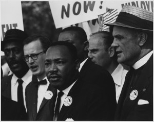 Civil Rights March on Washington, DC (Dr. Martin Luther King, Jr. and Mathew Ahmann in a crowd), August 28, 1963 - National Archives