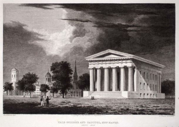 Yale College and Capitol, New Haven, engraved by Sidney L. Smith  - Smithsonian American Art Museum, Gift of Olin Dows