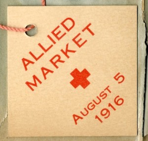 "Ticket for the ""Allied Market"" held on the Washington town green, August 5, 1916 - Gunn Memorial Library and Museum"
