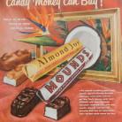Vintage Almond Joy and Mounds Candy Bar ad. Naugatuck, CT