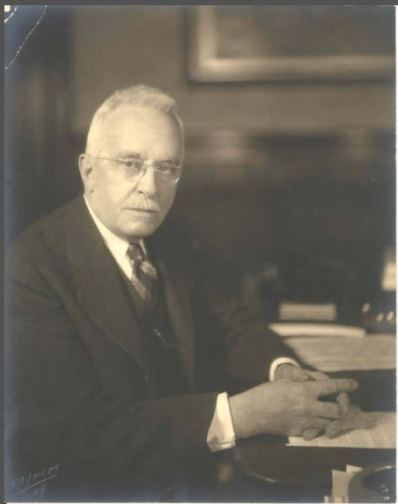 Wilbur L. Cross, ca. 1933 - Connecticut State Library, State Archives, PG 500, Individual and Family Portrait Collection