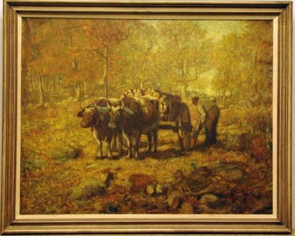 Louis Paul Dessar, The Wood Cart, 1904, oil on canvas - Yale University Art Gallery